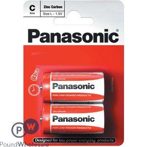 PANASONIC ALKALINE C BATTERIES 2 PACK