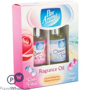 2PK FRAGRANCE OILS - ROSE PETALS / OCEAN BREEZE
