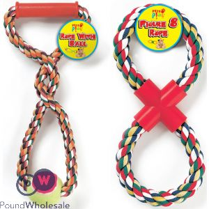 ROPE WITH BALL & FIGURE OF 8 2 ASSORTED