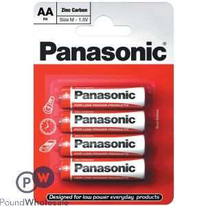 PANASONIC 4PK AA ZINC BATTERIES