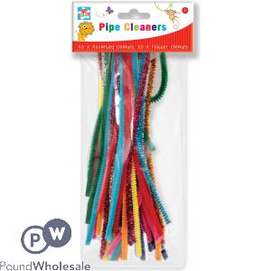 50 PIPE CLEANERS 40 X ASSORTED COLOURS AND 10 GLITTER COLOURS