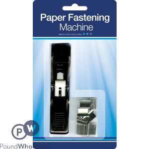 PAPER FASTENING MACHINE WITH PAPER FASTENERS