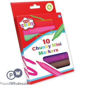 KIDS CREATE CHUNKY MINI COLOURING MARKERS 10-PACK