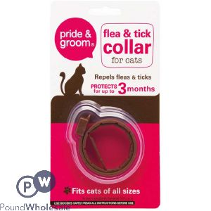 PRIDE & GROOM FLEA & TICK COLLAR FOR CATS CDU