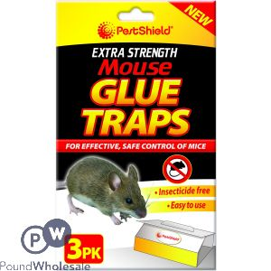 PEST SHIELD EXTRA STRENGTH MOUSE GLUE TRAPS