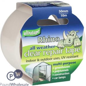 ULTRATAPE ALL WEATHER CLEAR REPAIR TAPE 50MM X 10M