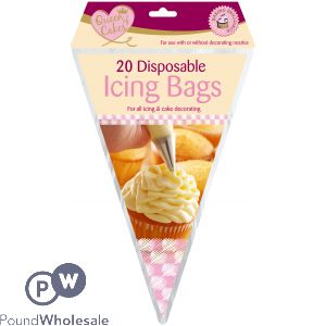 QUEEN OF CAKES DISPOSABLE ICING BAGS 20PK