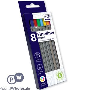 FINELINERS ASSORTED COLOURS 8-PACK