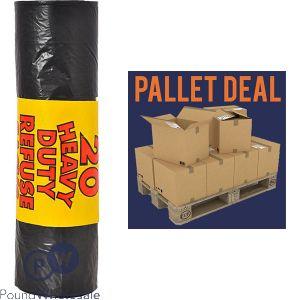 RM EXTRA HEAVY DUTY 110G 20PK BLACK REFUSE SACKS (110L) 30 ROLLS IN A BOX PALLET DEAL