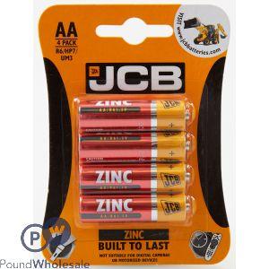 JCB AA ZINC BATTERIES PACK OF 4