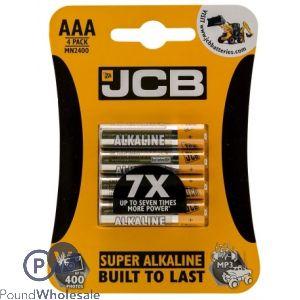 JCB AAA SUPER ALKALINE BATTERIES 4 PACK