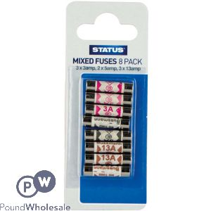 STATUS MIXED FUSES 8 PACK