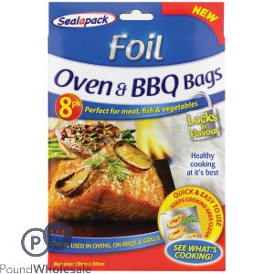 SEALAPACK FOIL OVEN & BBQ BAGS 8 PACK