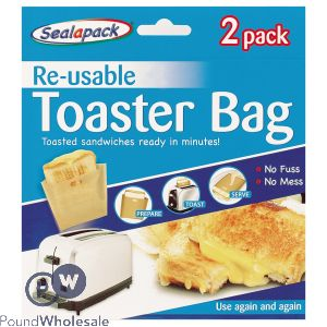 SEALAPACK RE-USABLE TOASTER BAG 2 PACK