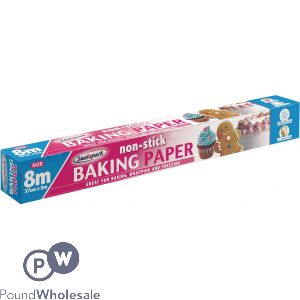 SEALAPACK NON-STICK BAKING PAPER ROLL 37CM X 8M