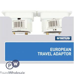STATUS EUROPEAN TRAVEL ADAPTER