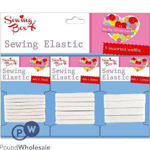 SEWING BOX SEWING ELASTIC 3 PACK