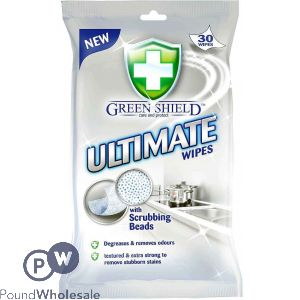 GREEN SHIELD ULTIMATE WIPES 30 SHEETS