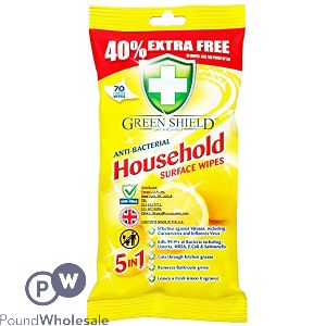 GREENSHIELD HOUSEHOLD ANTI-BACTERIAL WIPES 70 SHEETS