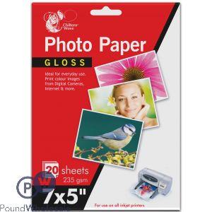 "CHILTERN WOVE PHOTO PAPER GLOSS 7 X 5"" 235 GSM 20 SHEETS"