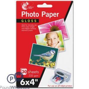 "CHILTERN WOVE PHOTO PAPER GLOSS 6 X 4"" 235 GSM 30 SHEETS"