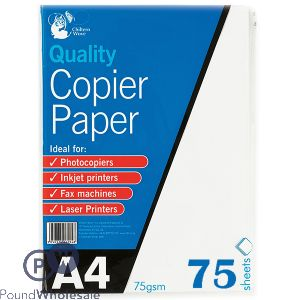 CHILTERN WOVE A4 COPIER PAPER 75 SHEET 75 GSM