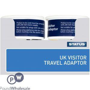 STATUS UK VISITOR TRAVEL ADAPTOR