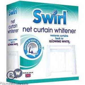 SWIRL NET CURTAIN WHITENER 4 PACK
