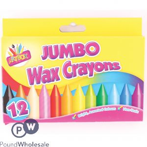 ARTBOX JUMBO WAX CRAYONS ASSORTED 12 PACK
