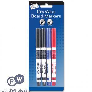 Dry Wipe Board Markers Pk/4