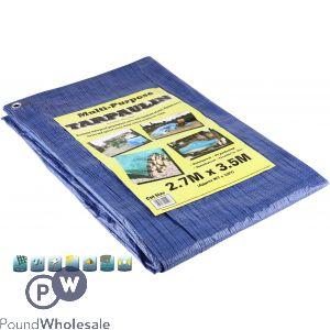 TARPAULIN BLUE/GREEN 2.7M X 3.5M