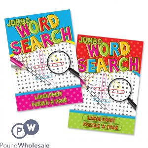 Super Jumbo Word Search Book
