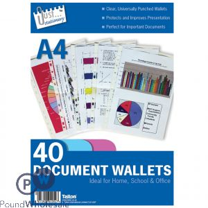 Plastic Punch Wallet (Pack/40)