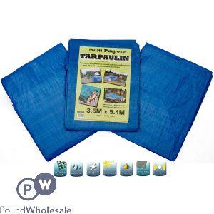 TARPAULIN BLUE/GREEN 3.5M X 5.4M