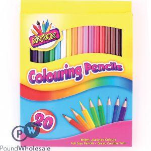 20 Full Sized Coloured Pencils
