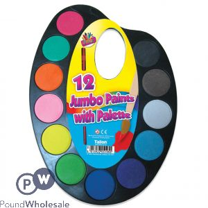 12 JUMBO PAINTS WITH PALETTE