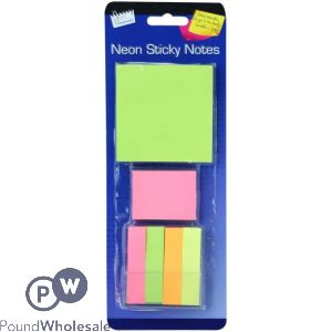 NEON STICKY NOTES ASSORTED