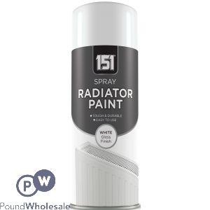 151 RADIATOR PAINT WHITE GLOSS SPRAY