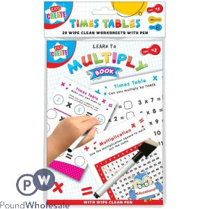 KIDS CREATE WIPE-CLEAN MATHS BOOK 20 SHEETS WITH PEN