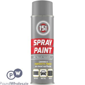 SPRAY PAINT - METALLIC SILVER 200ML