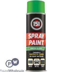 151 GREEN GLOSS SPRAY PAINT 250ML