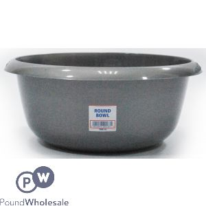 ROUND BOWL SILVER 8L