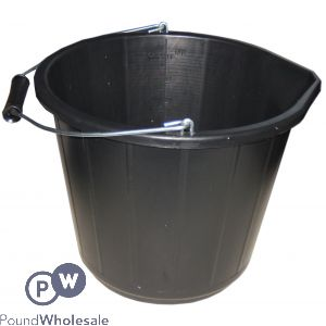BUILDERS BUCKET BLACK 14L