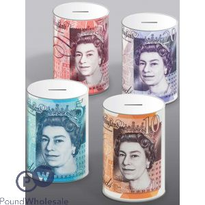 STERLING MONEY TINS 10CM X 15CM