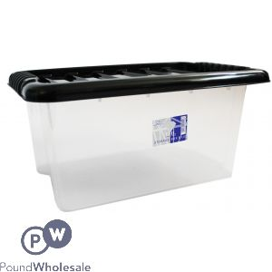 PLASTIC STORAGE BOX WITH LID SMALL 14LTR