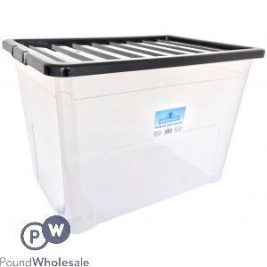 PLASTIC STORAGE BOX WITH LID EXTRA LARGE 70 LTR