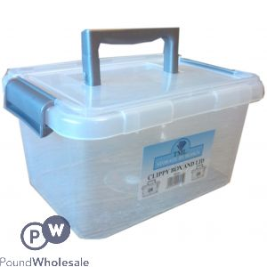 CLIPPY PLASTIC STORAGE BOX 3.5LTR CLEAR