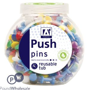 REUSABLE PUSH PINS IN TUB 175PC