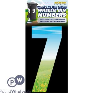 2PK ADHESIVE MEADOW WHEELIE BIN NUMBER 7