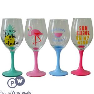 4 ASSORTED GLASS CUPS